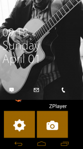 WP7Lock Lockscreen for Android Demonstrating ZPlayer Integration
